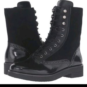 French Connection lace up leather boots